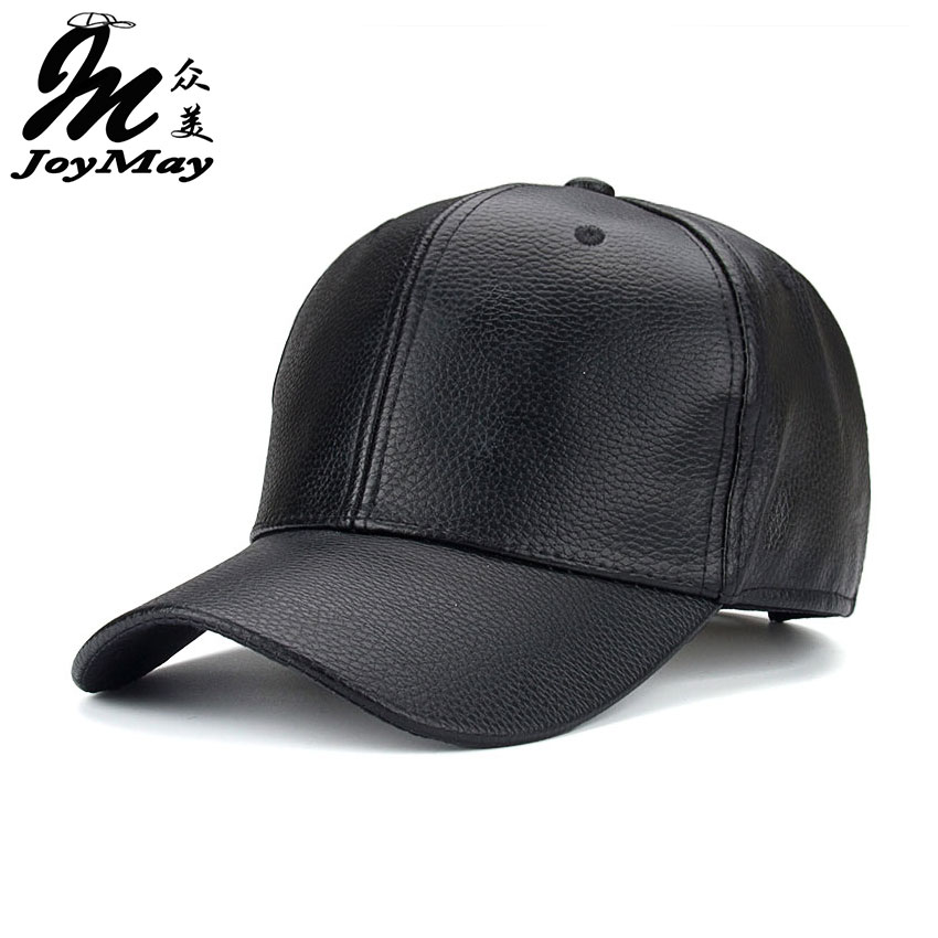 leather baseball cap with fur pom wholesale faux black new font