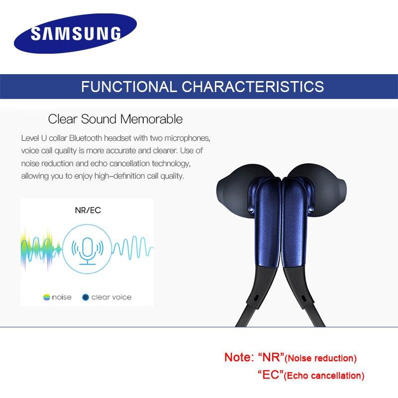 SAMSUNG Level U Écouteurs Intra-auriculaires Sans Fil Bluetooth casques Collier Antibruit Soutien A2DP, HSP, HFP pour Galaxie 8 S8plus - 4