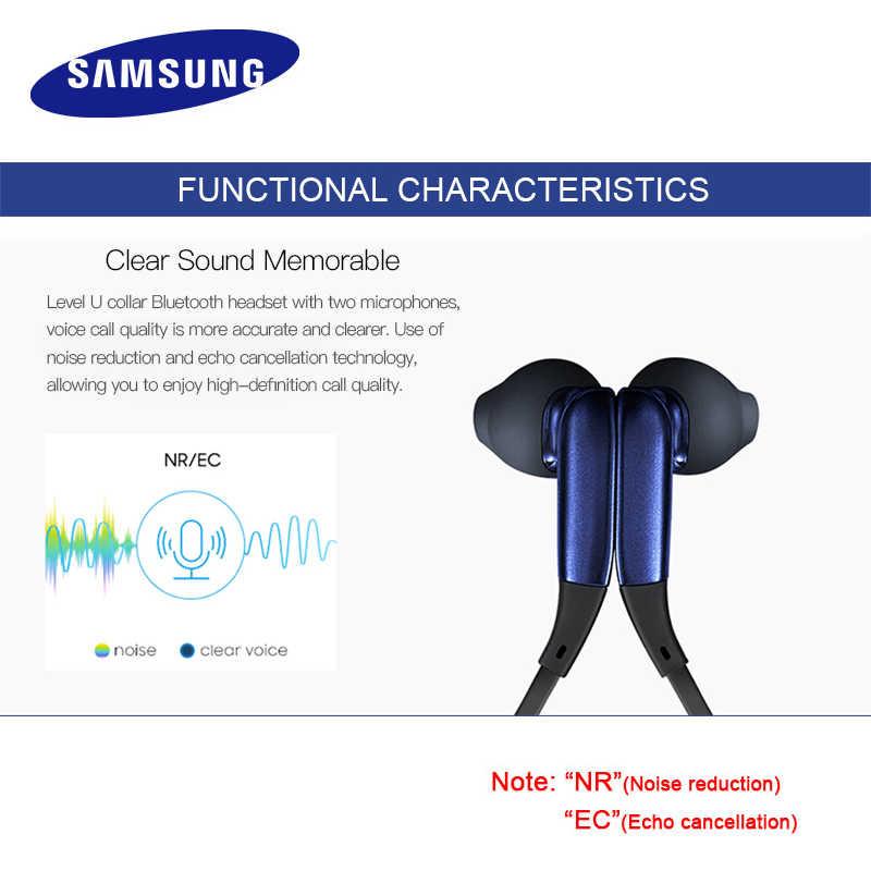 サムスンレベルuインイヤーイヤホンワイヤレスbluetoothヘッドセット襟ノイズキャンセルサポートa2dp、hsp、hfp glaxy 8 S8plus