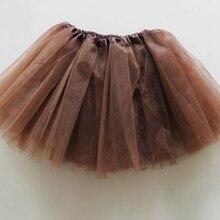 Коричневый юбка-пачка 3-слойная фатиновая юбка-пачка танцевальная балетная юбка-пачка для девочек