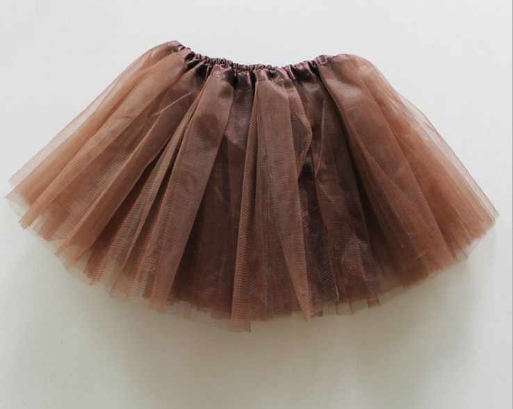 e8f7738941 brown Tutu Skirt 3 Layers Tulle pettiskirt Dance Ballet tutu for girl