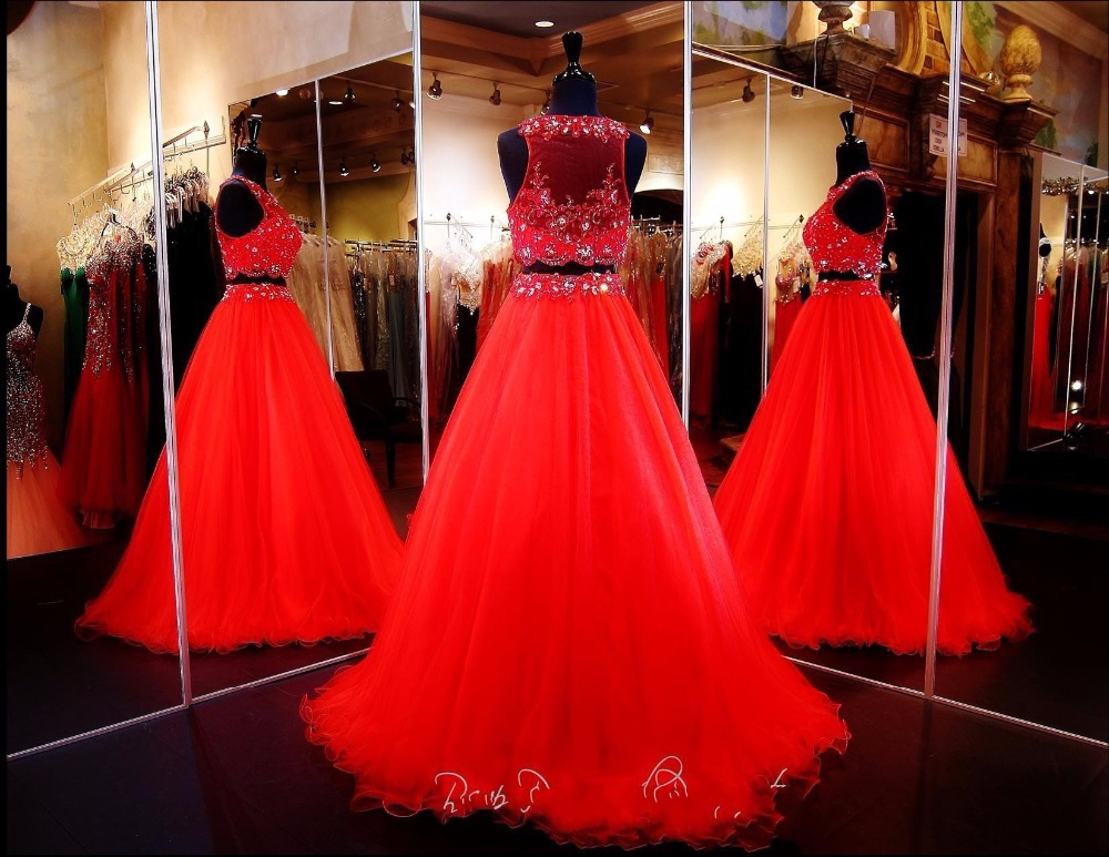 New Beautiful Two Piece Quinceanera Dresses 2015 Ball Gown