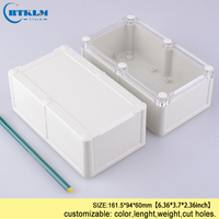 Waterdichte junction box clear abs plastic project geval DIY seal waterdichte IP68 plastic behuizing instrument geval 161.5*94 * 60mm