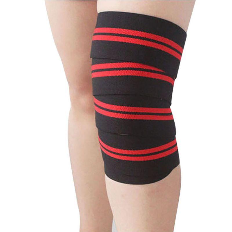 Prix pour AOLIKES Haltérophilie Élastique Bandage Au Genou Jambe Sangles Formation Wraps Soutien Sport Ceinture Bande