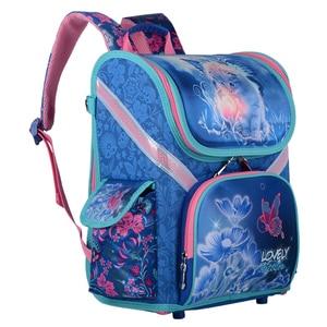 Image 2 - New Girls School Backpacks Children School Bags Orthopedic Backpack Cat Butterfly Bag For Girl Kids Satchel Knapsack Mochila