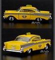 Marca Nueva Escala 1/40 EE.UU. 1957 Chevrolet Bel Air Taxi Diecast Metal Tira Del Coche Modelo de Juguete Para El Regalo/niños/Colección