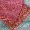 Señoras printe Llano de lujo bandhnu rosa de encaje de flores de algodón bufanda multicolor hijab largo diadema bufandas/mantones 8 COLOR 10 unids/lote