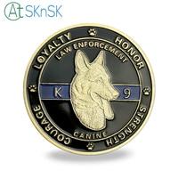 50/100pcs Wholesale medal souvenir Protector of Law Enforcement Guardians of Night Unite States K9 Police dog challenge coin