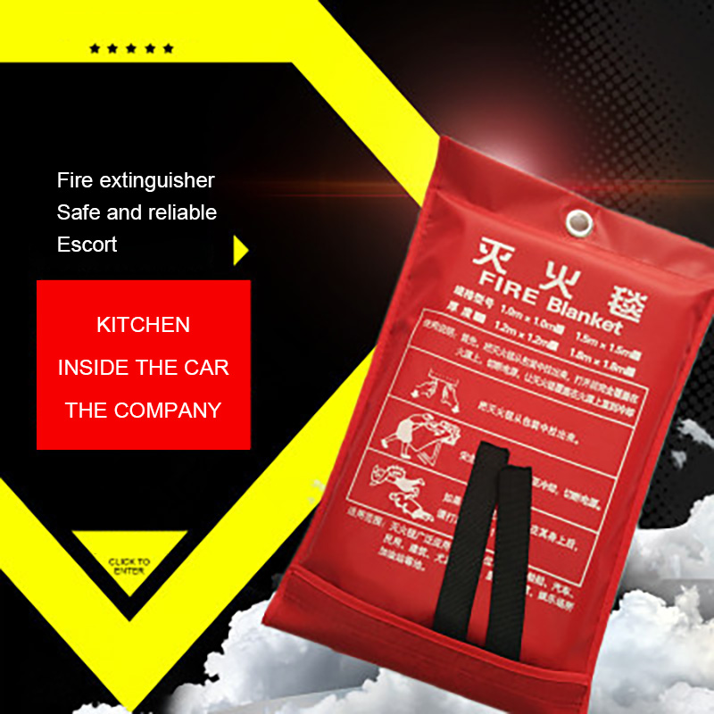 1M X 1M Fire Blanket Fiberglass Fire Flame Retardant Quality Emergency Survival Fire Shelter Safety Cover Fire Emergency Blanket