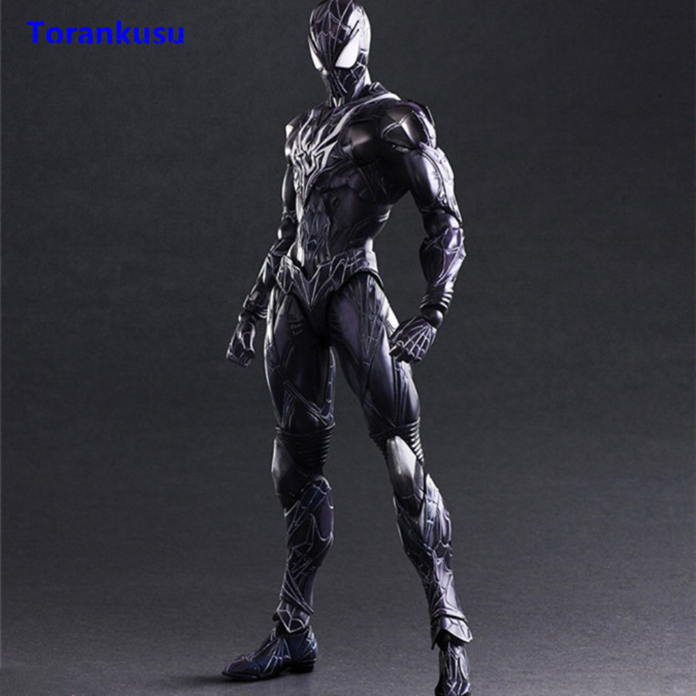 Spiderman Action Figure Play Arts Kai Figure Figurine PVC Spider-Man Evil Ver. Collectible Toy Men Gift For Birthday Model XPSpiderman Action Figure Play Arts Kai Figure Figurine PVC Spider-Man Evil Ver. Collectible Toy Men Gift For Birthday Model XP