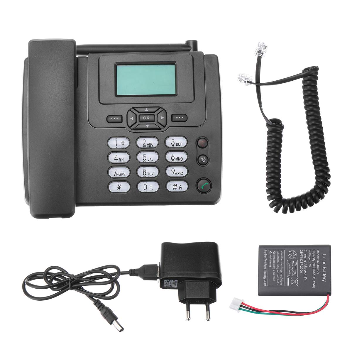EU Plug Desktop Wireless Telephone GSM Fixed Phone Support SIM Card For House Home Call Center Office Company Hotel
