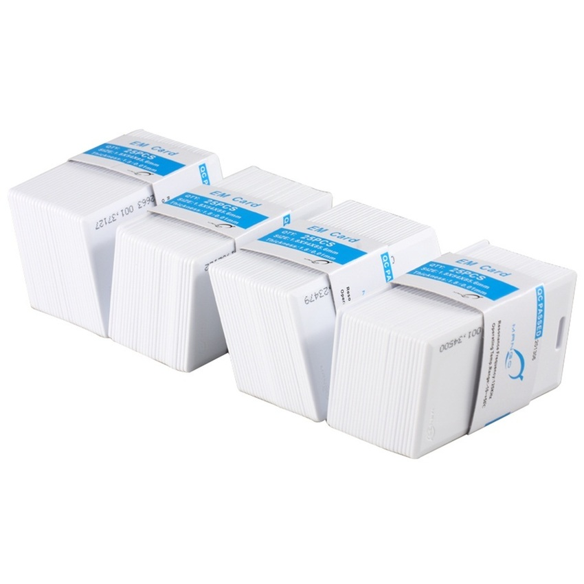 125khz em4100 door entry access blank white proximity rfid clamshell thick card thickness 1 9mm pack of 10 RFID 125KHz Thick card printable Proximity Door Control Entry Access EM Cards 100pc Set (White)