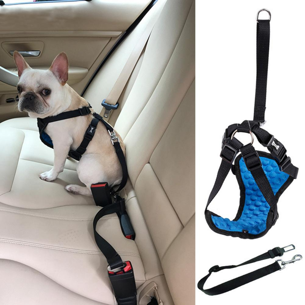 Wholesale Pet Dog Harness Car Seat Belt Set Safety Soft Padded Strap Dogs Puppy Cat Life Collar In Belts From Home