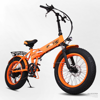 20inch Fat Tire Electric Mountain Bicycle 48V Snow Beach Electric Bike 240w Folding Electric Ebike Off