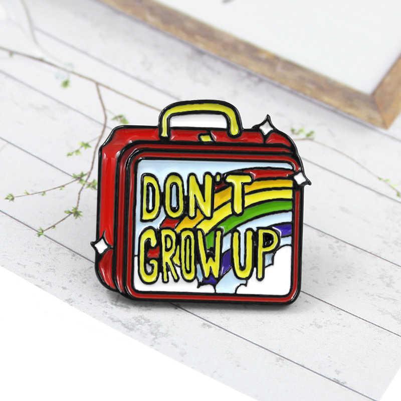 Hand-held portátil mala almoço caixa de esmalte broche de presente para white-collar de fast-food restaurante amigos como roupas crachá jóias