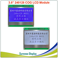 3.8 240128 240*128 Graphic Serial SPI Parallel COG Matrix LCD Module Display Screen build in UC1608 Controller