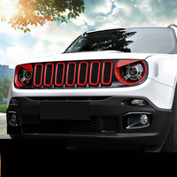 Front Bumper Racing Grills Trim Decorated Frame For Jeep Renegade ACA138