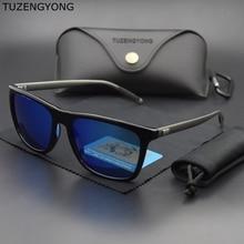TUZENGYONG брендовые унисекс Винтажные Солнцезащитные очки поляризованные мужские UV400 зеркальные очки Аксессуары Солнцезащитные очки для мужчин/женщин Oculos