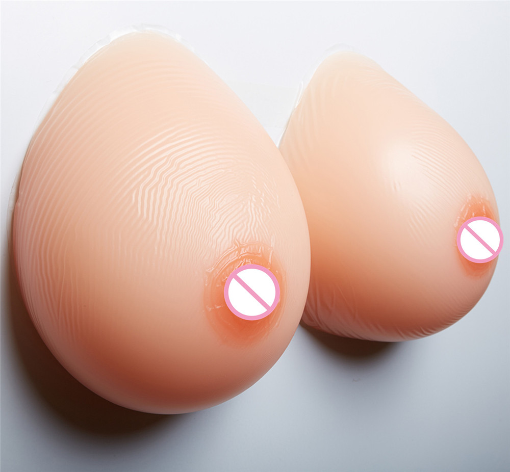 1800g/pair Sexy cleavage Fake Boobs Silicone Breast Forms Crossdresser Transgender Artificial Chest Enhancer 42DD/44D/46C