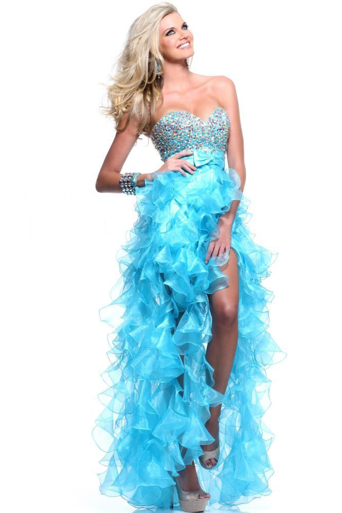 High Quality High Low Blue Prom Dresses-Buy Cheap High Low Blue ...