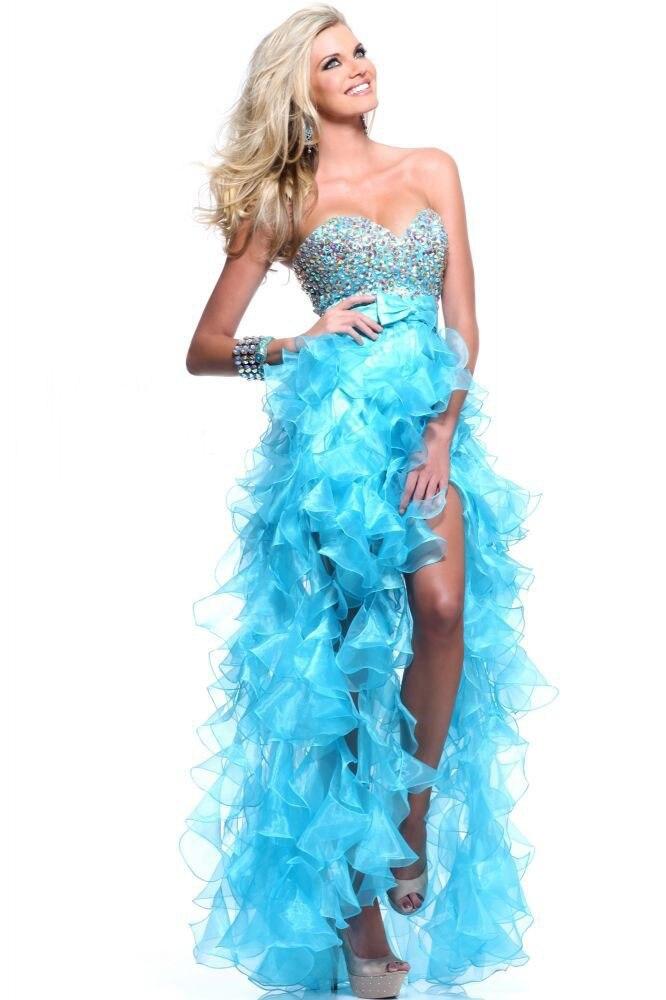 Popular Royal Blue High Low Prom Dresses-Buy Cheap Royal Blue High ...