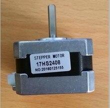 5pcs/lot 17HS2408 4-lead Nema 17 Stepper Motor 42 motor 42BYGH 0.6A CE ROSH ISO CNC Laser and 3D printer