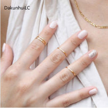 Wholesale Factory Direct 2pcs New Fashion Alloy Accessories Copper Ring Beautiful and Lovely Women Polished Jewelry(China)