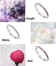 Wedding Rings for Women Mystique Girls Purple Red Charms Ring Female