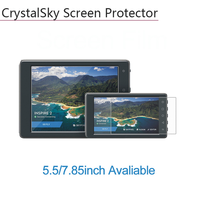 2pcs Highlight Explosion proof HD Protective Film Screen Protector 5.5 7.85 inch for DJI CrystalSky Monitor display Accessories