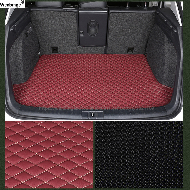 wenbinge Car Trunk Mat Tarpaulin Liner Waterproof Pad Pet Dog Cat Back Seat Organizers Cushion Protector Keep Clean Interior 3d trunk mat for peugeot 508 waterproof car protector carpet auto floor mats keep clean interior accessories