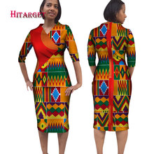 2019 Autumn Long Sleeve Vintage Traditional African Dresses for Women african Dashiki Print women clothing WY4092