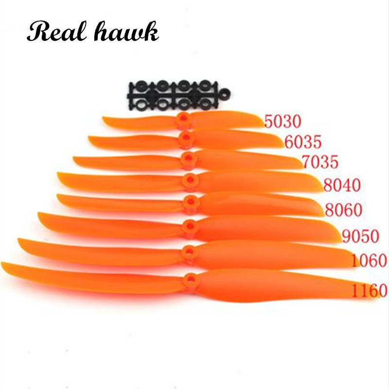 Airplane Propell 10pc/lot EP5030/6035/7035/8040/8060/9050/1060/1160 Props For RC Model Aircraft Replace GWS