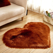 Dropshipping Wool Imitation Sheepskin Rugs Faux Fur Non Slip