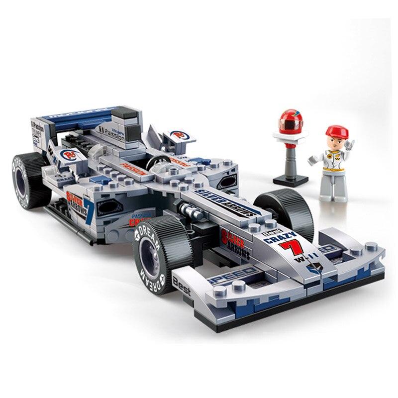 Модель S совместим с Lego b0352 257 шт. 1:24 серебро F1 модели автомобилей строительство ...