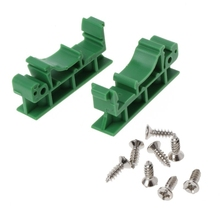 цена на PCB DIN Rail Mounting Adapter Circuit Board Mounting Bracket Holder Carrier Clip