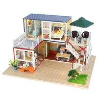 DIY 모델 인형 주택 조립 나무 인형 집 장난감 3D 인형 집 아이 장난감 인형 집