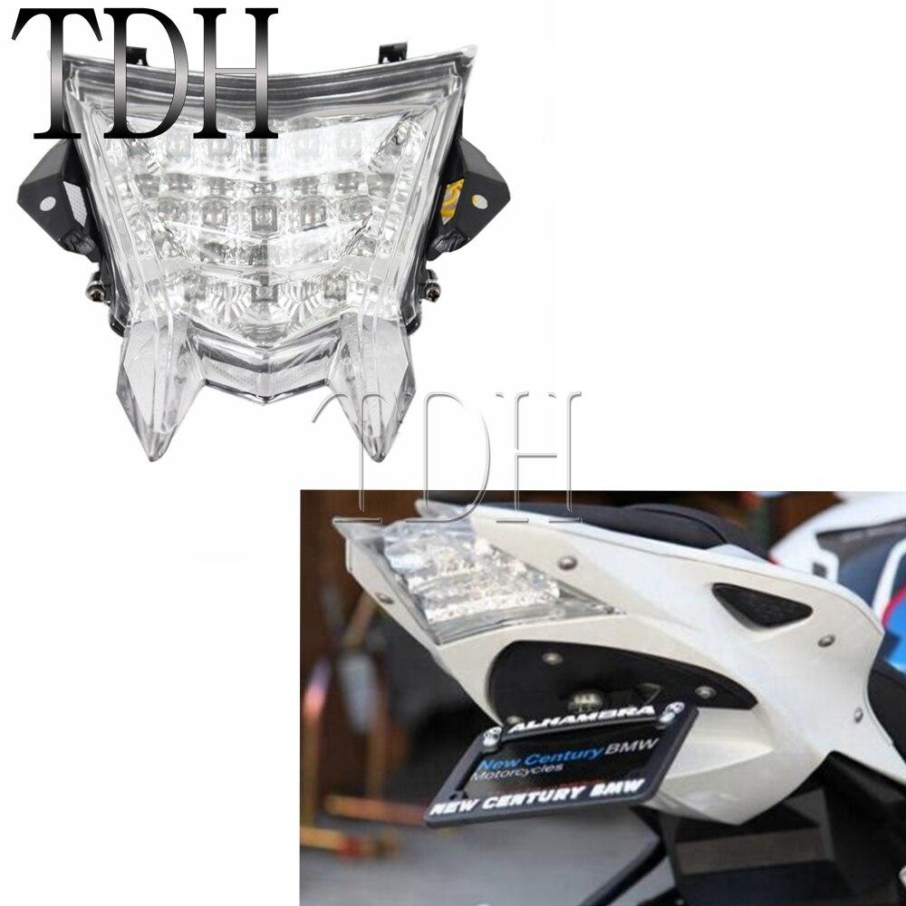 Feu arrière clair de plaque d'immatriculation de feu arrière de frein à LED de moto pour BMW S1000RR 2010-2014 BMW S1000R 2014 BMW HP4 2012-2014