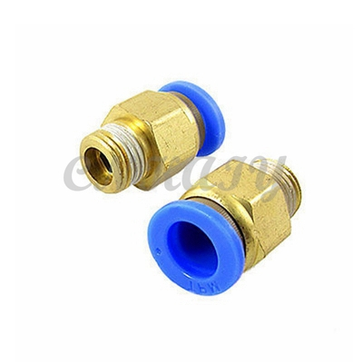 14mm OD Tube to 1/4BSPT / PT ( Outer Diameter:12.5mm) male thread One Touch Pneumatic Compressor Quick Brass Fittings pneumatic 1 4 pt thread tube 8mm t joint one touch quick fittings