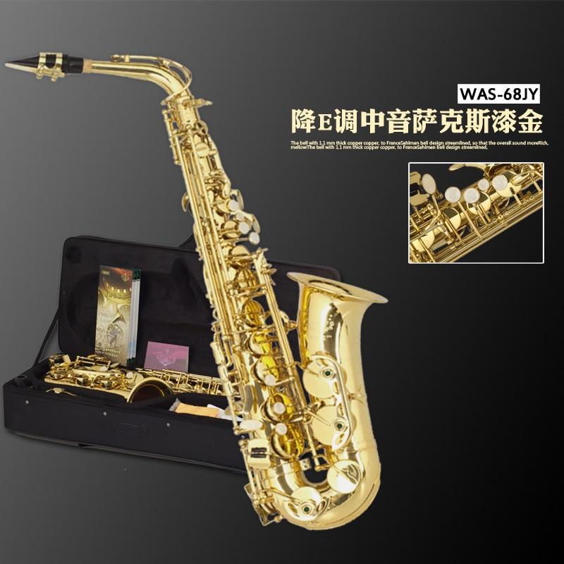 Original Henlucky WAS-68JY Based Selmer 802 Eb flat alto saxophone musical instrument professional saxe Sax Saxofone alto eb falling tune e sax wind instrument saxophone western instruments saxofone saxe alto eb professional musical instrument