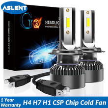 ASLENT Mini led H7 H4 LED Bulb Car Headlight Lamp H11 H1 H8 H9 9005/HB3 9006 9012 80W 10000LM 6000K Auto Accessories Fog Light