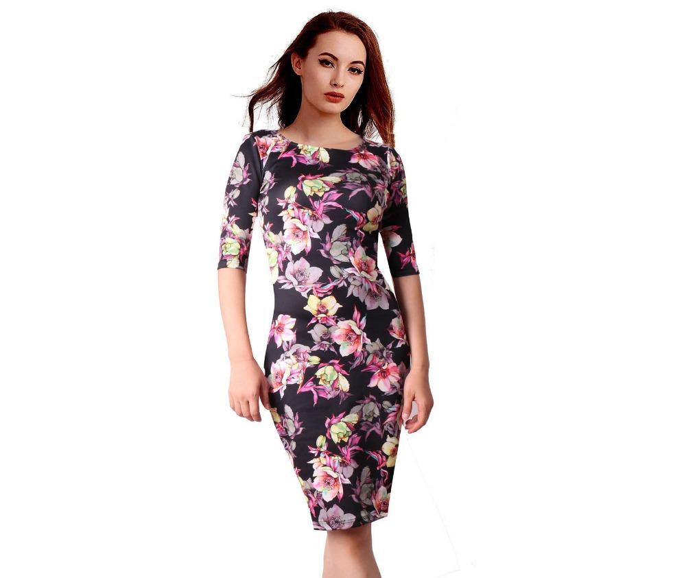 HTB1SHAlSFXXXXXTXpXXq6xXFXXXQ - FREE SHIPPING Women Dress Floral Print JKP199