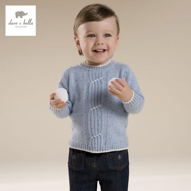 DB2743 dave bella invierno 100% de la cachemira niños textil ropa infantil niños bebés niñas suéter de cachemira