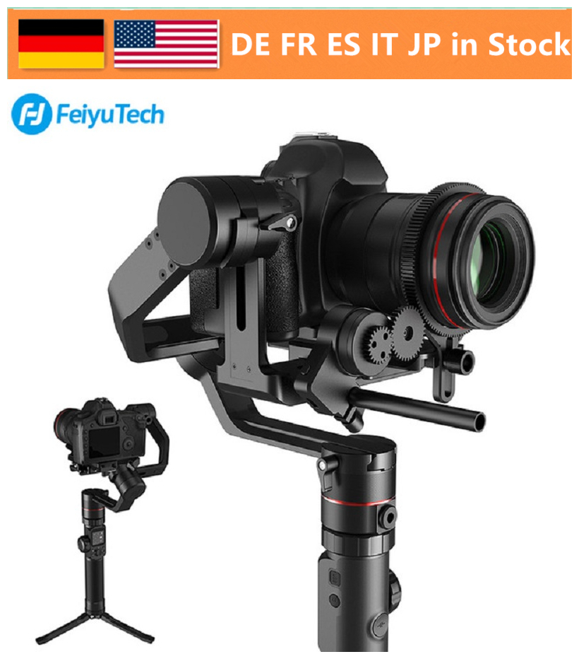 FeiyuTech AK4000 3-Axis Handheld Camera Stabilizer Gimbal for Sony Canon 5D 8D Mark II Panasonic GH5 Nikon D850 4kg Payloay feiyutech feiyu ak2000 3 axis handheld camera stabilizer 2 8kg loading gimbal for sony canon 5d 6d mark panasonic gh5 nikon d850