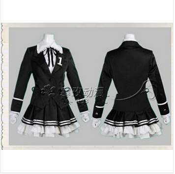 Vocaloid Miku Hatsune Secret Police Cosplay Costume Party Dress