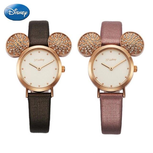 Disney Brand Original Gift Box Cartoon Children Girl Watches Mickey Big Ears Kid