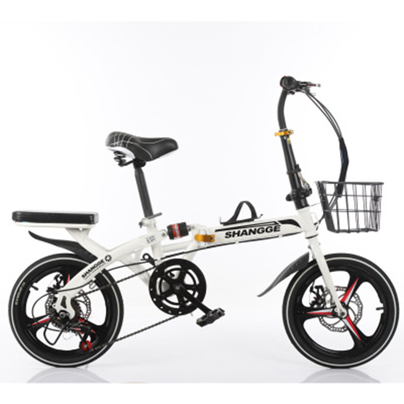 Folding Bicycle 16-Inch Single-Speed Three-Knife Disc Brake For Adult Men And Women Ultra-Light Students Portable Small Bicycle
