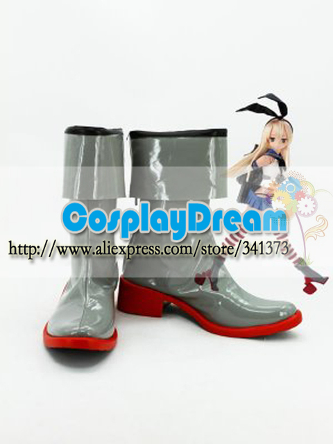 Customize Cosplay Kantai Collection Fleet Girls Kanmusu Shimakaze Cosplay  Boots halloween party Cosplay shoes Custom Any