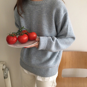 Image 5 - Pullovers Women Solid O Neck Warm Simple Elegant Students Korean Style Leisure Female Loose Kawaii Womens High Quality Pullover