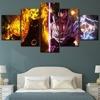 Tableau Naruto et Sasuke 7 Affiche murale moderne un ensemble d anime Affiche en 5 panneaux peinture murale d coration