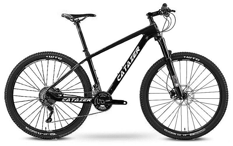 "HTB1SHBVaoLrK1Rjy1zbq6AenFXah - CATAZER Carbon Mountain Bike 17""/19""21"" Carbon Fiber Frame Bicycle 26er Wheel 20 Speeds Profession MTB Bicycle Disc Brake Bike"